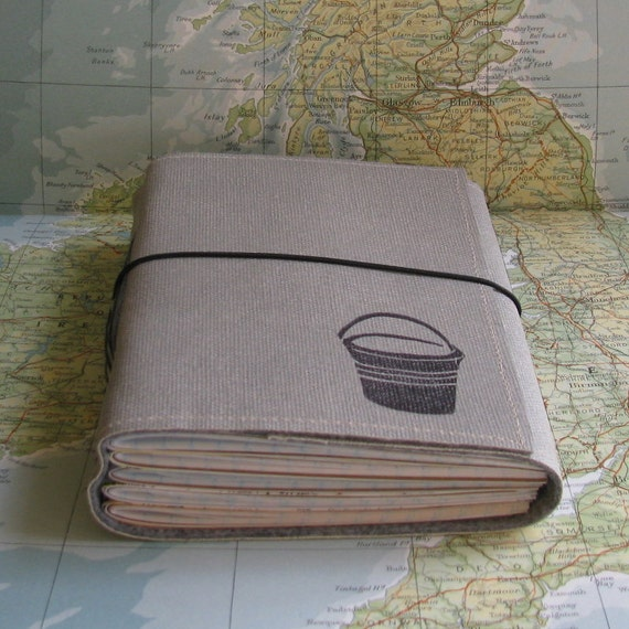 bucket list journal with maps featured in Better Homes and Gardens 2011 Gift Guide