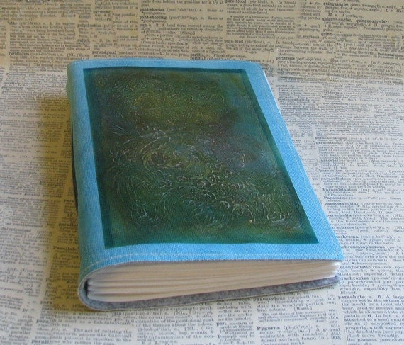 textured original mixed media Mid Size Journal