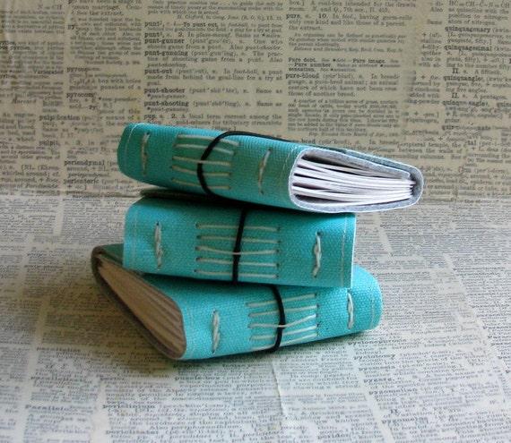3 blank little pocket journals bulk set by bluetoad journals of tremundo