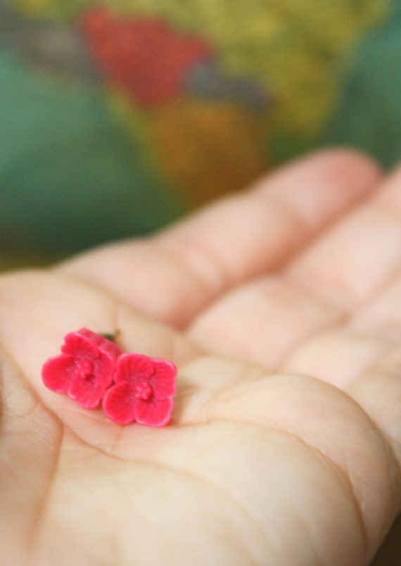 Flower Post Earrings, Tiny, Colorful, Your Choice- Petite Pretties
