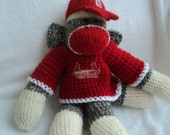 Sock Monkey St. Louis Cardinals-20 percent off entire shop this month. use coupon code 99914