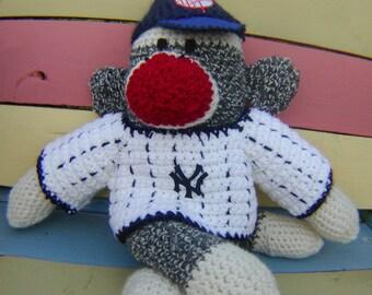 Sock Monkey New York Yankees or your Team