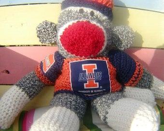 Sock Monkey University of Ilinois or Your Team