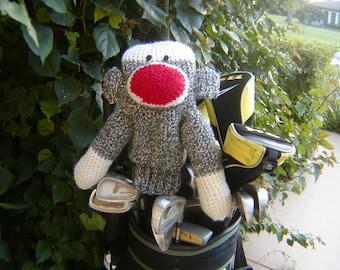 Sock Monkey Golf Club Cover