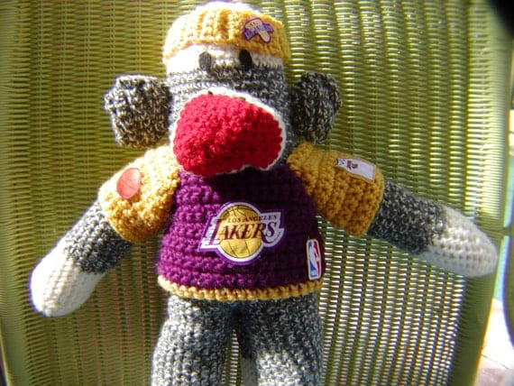 Sock Monkey- Los Angeles Lakers or Your Team