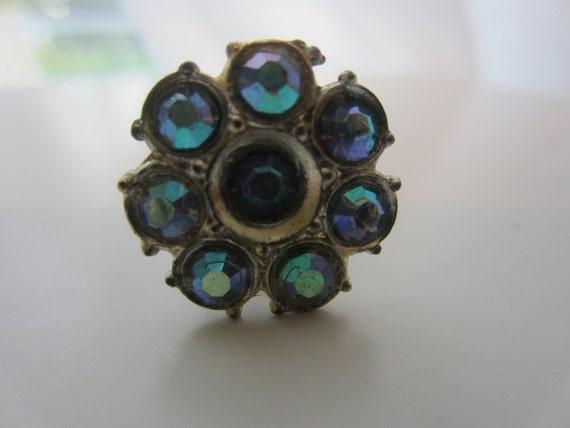 Vintage embellishment/ stick pin, Rhinestone embellished, estate sale find, very old (lot 1494)