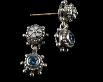 Two Drop Earrings, Wildflower Collection        8306SXBXXXXW