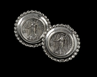 Nike Earrings, B.C. Silver Collection     6309S