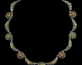 Crescent Cluster Necklace, Wildflower Collection               8102SGPCXXYP