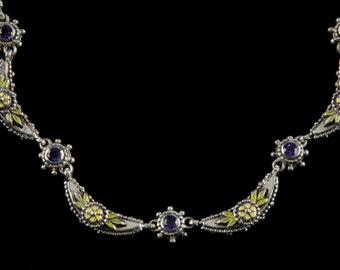 Crescent Necklace, Wildflower Collection       8105SXAXXXYP