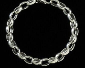 Large Poisiden Bracelet, B.C. Silver Collection     6214S