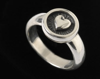 Heart Ring, B.C. Silver Collection    6507S