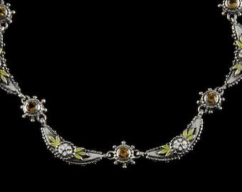 Crescent Necklace, Wildflower Collection              8105SXCXXXWP
