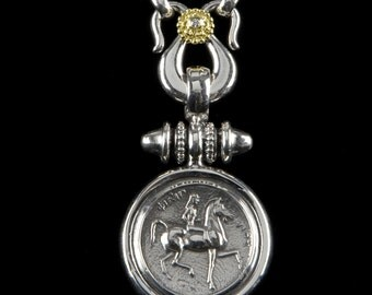 Classic Lady Godiva Necklace, B.C. Silver Collection        6105SGD