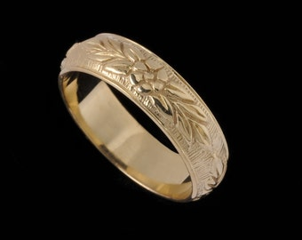 Floral Wedding Band, Wildflower Collection                   2518XG