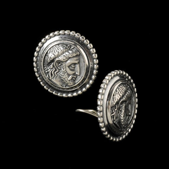 Phillip of Macedonia Earrings, B.C. Silver Collection                                                           6305S