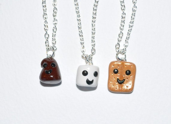 S'mores Best Friend Necklaces- FREE US/CANADA SHIPPING