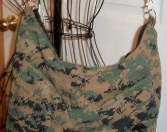 Sale: Use 15Off to get 15% off, USMC Hobo Purse, MARPAT Woodland Camouflage, Made by Approved USMC Hobbyist, License 17050