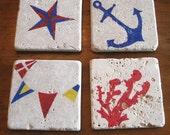 Nautical Marble Coasters