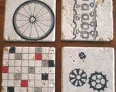 Cycling Marble Drink Coasters