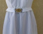 White Pathways-Sleeveless Dress With Native American Beadwork