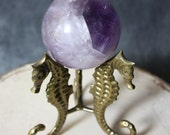 "Vintage 1980s 3"" Diameter Amethyst Eye Sphere Crystal Ball Metaphysical New Age Healing Home Decor"