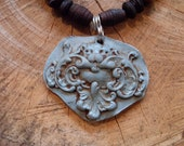 Woodland Lion Clay Pendant Necklace