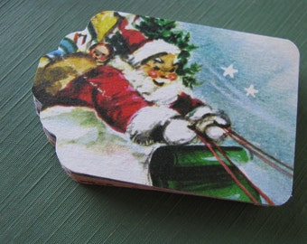 Vintage Hand Punched Tags From Children's Christmas Book Illustrations