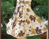 Mimi's Summer Camel Garden Wrap Skirt  up to 36' waist Free US Shipping on SALE