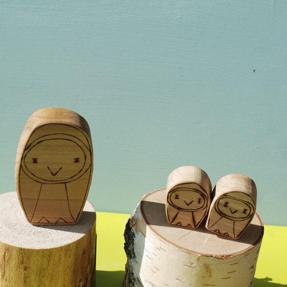 Wooden Star House Owl Folk