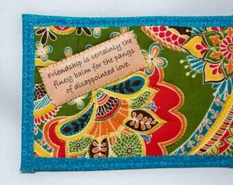 FRIENDSHIP, Jane Austen quilted postcard