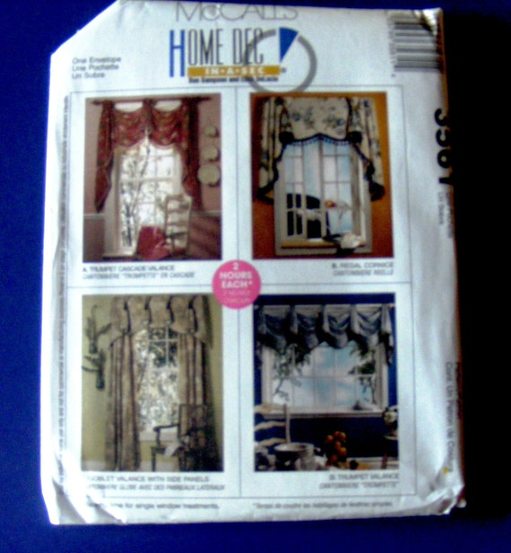 Uncut McCalls Window Treatment Sewing Pattern 3561 By
