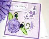 Happy Birthday Wishes Card Handmade Greeting Card and Envelope