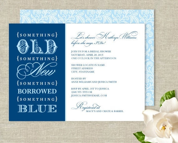 Something Borrowed Wedding Traditions From Around The: Items Similar To Something Old New Borrowed Blue Bridal