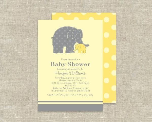 similar to elephant baby shower invitations zoo animal theme on etsy