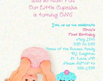 Sweet as Sugar First Birthday Party Invitation