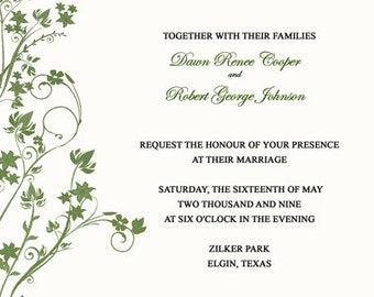 Wedding Invitations-Floral Splash