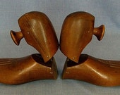 Vintage Hardwood Shoe Lasts A Great Pair of Bookends