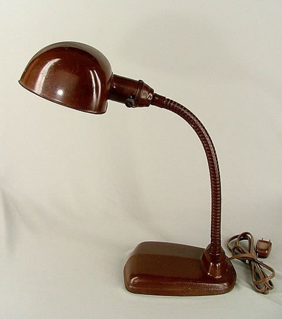 Vintage 1930 S 1940 S Goose Neck Desk Lamp By Eclectically