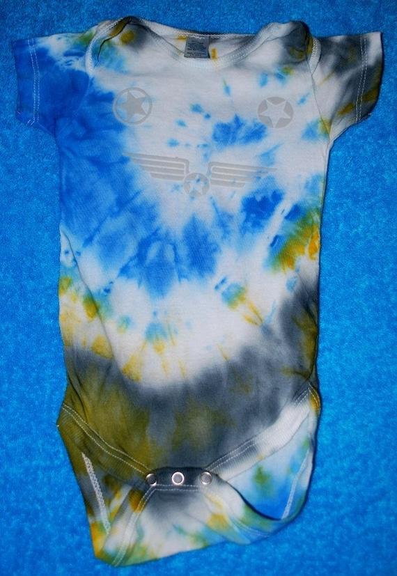 LIL SOLDIER Tie Dye Onesie 9/12 Month