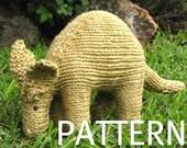 Aardvark Knittng Pattern, PDF, Instant Digital Download