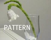 Snowdrop Flower Knitting Pattern, PDF, Instant Digital Download