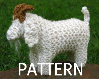 Goat Knitting Pattern (PDF), Instant Digital Download