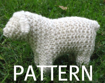 Waldorf Toy, Sheep Knitting Pattern (PDF), Digital Download