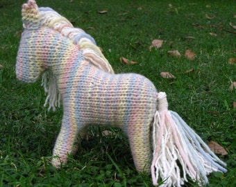 Shadow the Horse Knitting Pattern, Waldorf Toy, PDF, Instant Digital Download