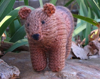 PDF, Bear Knitting Pattern, Waldorf Toy, Instant Digital Download