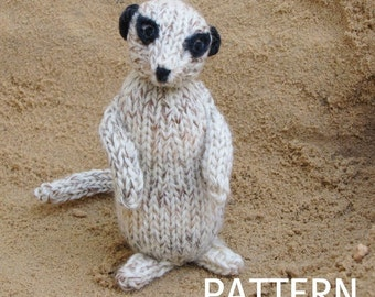 Meerkat Knitting Pattern, PDF, Instant Digital Download