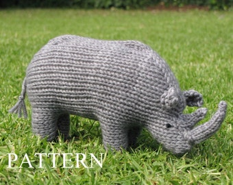 Rhino Knitting Pattern, PDF