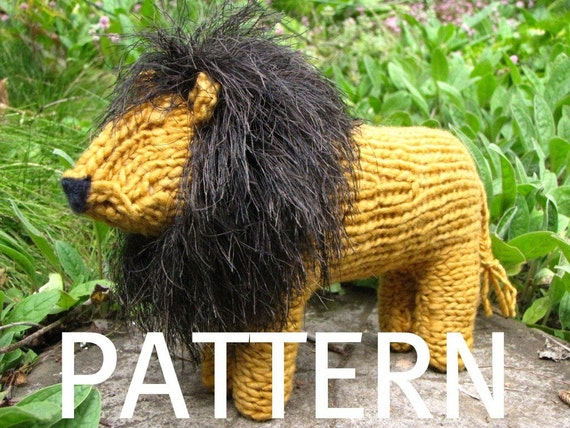 Lion Toy Knitting Pattern PDF