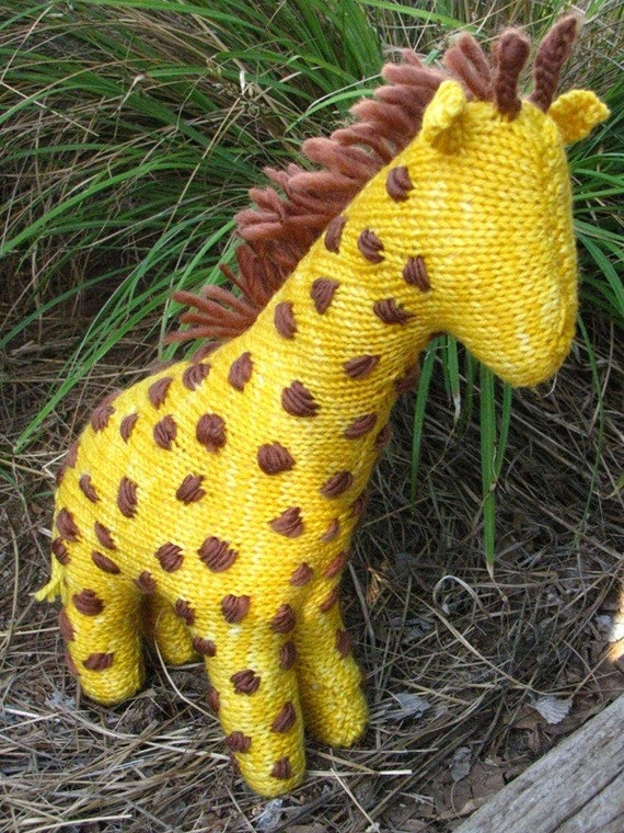 Giraffe Toy Knitting Pattern (PDF) Instant Digital Download from mamma4earth ...